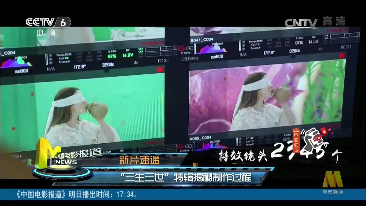 """新片速递:""""三生三世""""特辑揭秘制作过程"""